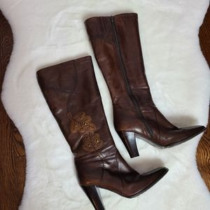 Feet First  vegan leather brown boots